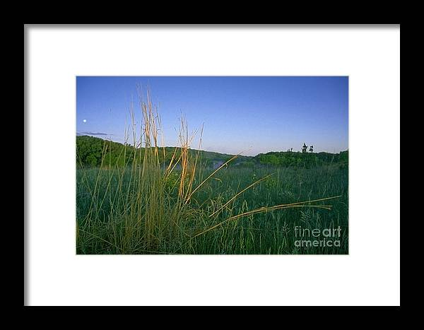 Prairie Framed Print featuring the photograph Minnesota Prairie Moon Rise by Sven Brogren