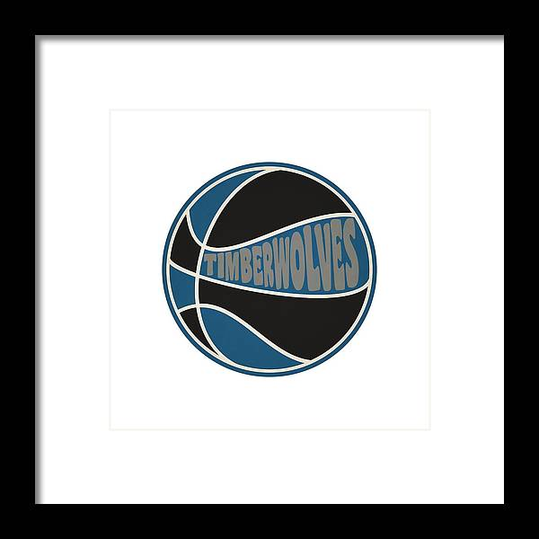 best sneakers e90a0 efc4a Minnesota Timberwolves Retro Shirt Framed Print