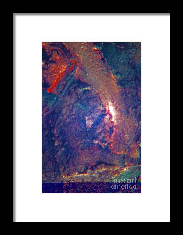 Mixed Media Framed Print featuring the painting Minoans On Keweenaw Penninsula by Jeff Birr