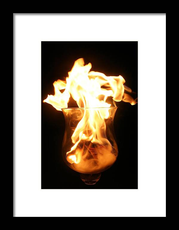 Fire Framed Print featuring the photograph Minor Explosion by Cassandra Wessels