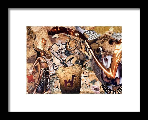 Kamelogana Framed Print featuring the mixed media Minotauros by Christoph Fuhrken