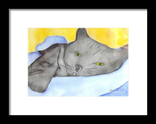 Minou Framed Print featuring the painting Minou by Djl Leclerc
