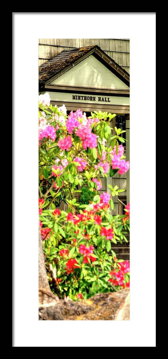 Jerry Framed Print featuring the photograph Minthorn Hall Vp by Jerry Sodorff