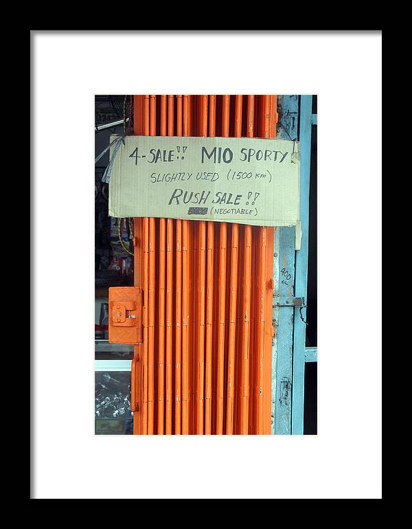 Photographer Framed Print featuring the photograph Mio Sporty by Jez C Self