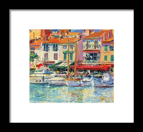 Pier Framed Print featuring the painting Mirabeau by Peter Graham