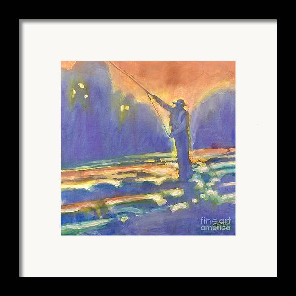 Fishing Framed Print featuring the painting Miracle Moment by Kip Decker