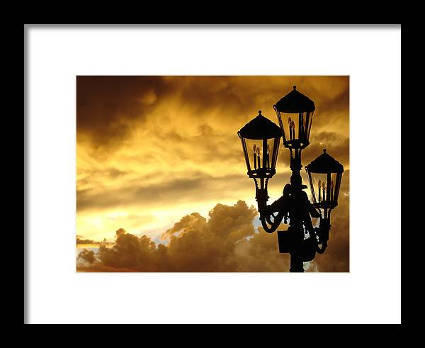 Night Sky Framed Print featuring the photograph Mirage Night Sky by Michael Simeone