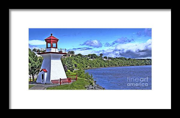 Miramichi Framed Print featuring the photograph Miramichi Lighthouse by Levin Rodriguez
