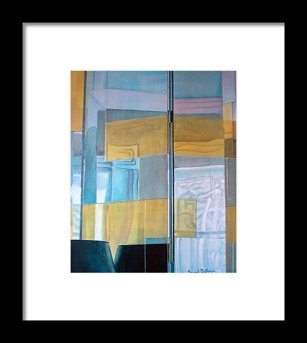 Miroir Framed Print featuring the painting Miroir by Muriel Dolemieux