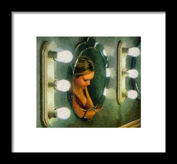 Bridesmaid Framed Print featuring the painting Mirror Mirror On The Wall by Jeffrey Kolker