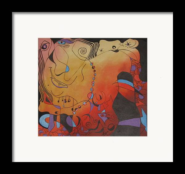 Abstract Framed Print featuring the print Mirrored by David McKee