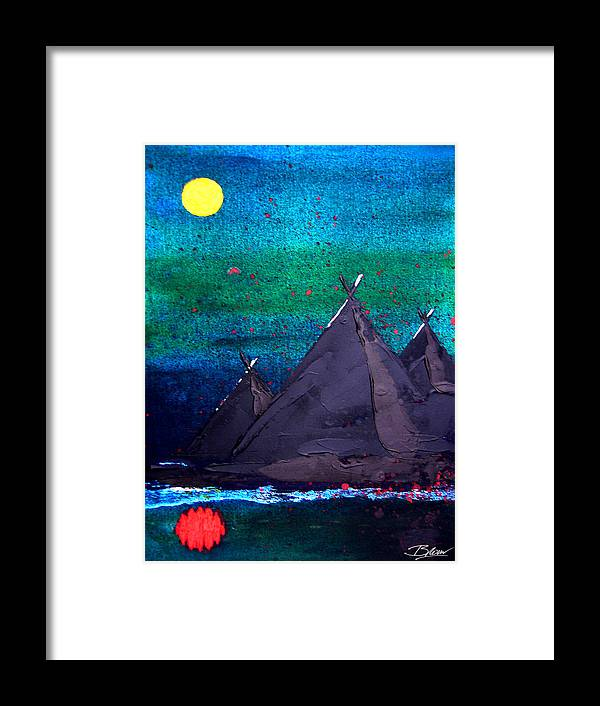 Impressionist Framed Print featuring the painting Mirrored Moon by Bill Brown