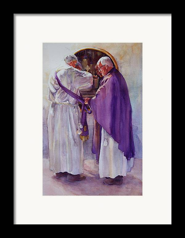 Figure Framed Print featuring the painting Mirroring Faith by Carolyn Epperly