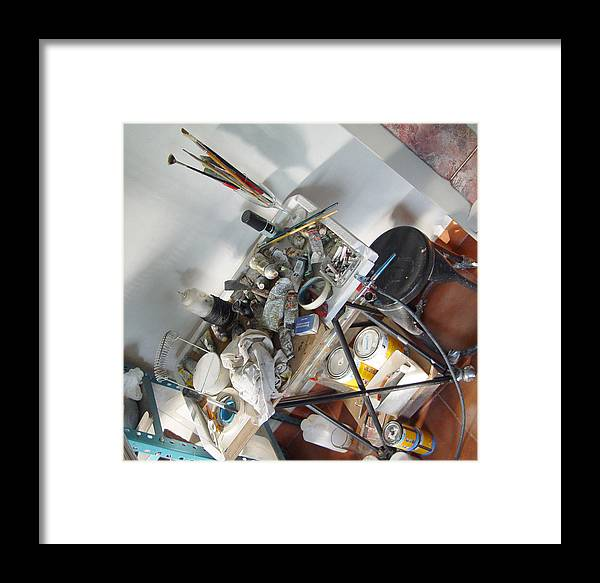 Paint Table Framed Print featuring the photograph Mis Cosas by Angel Ortiz