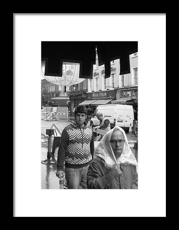 Jez C Self Framed Print featuring the photograph Miserable Day by Jez C Self