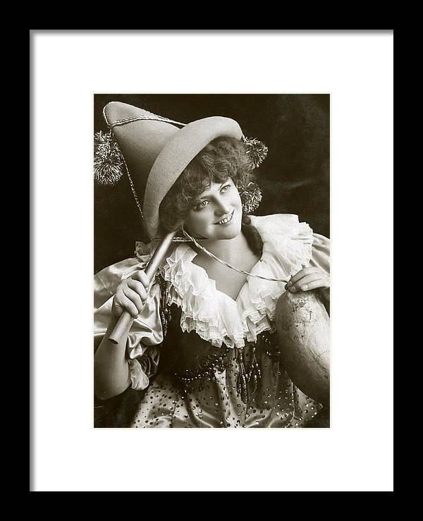 Marie Studholme Framed Print featuring the digital art Miss Marie Studholme As Lady Madcap 1905 by Sarah Vernon