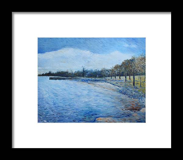 Framed Print featuring the painting Missassauga Ontario Canada 2000 by Enver Larney