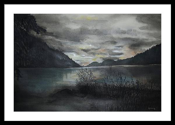 Sunset Framed Print featuring the painting Missezula Lake Sunset by Susan Moore