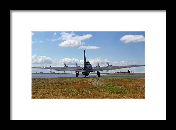 Memphis Belle Framed Print featuring the photograph Mission 25 by Peter Chilelli