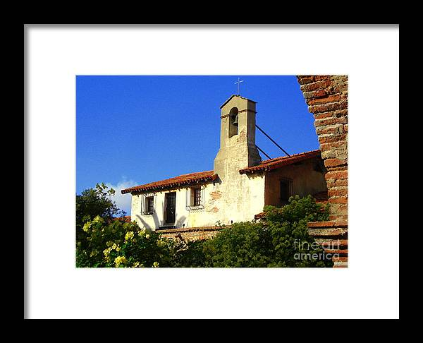 Mission Framed Print featuring the photograph Mission Capistrano by Claudia Sanchez