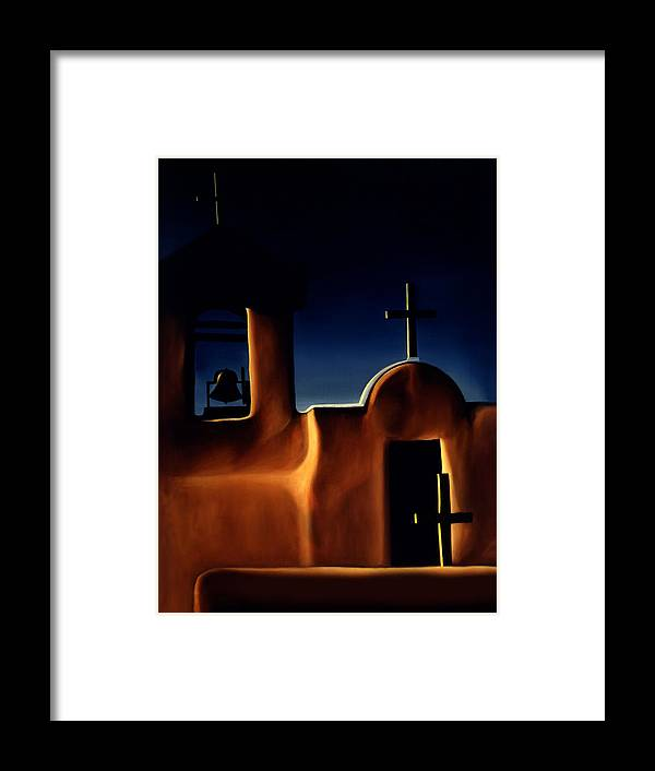 Mission St Francis Assisi Framed Print featuring the painting Mission Crosses by Anni Adkins