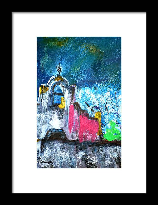 Churches Framed Print featuring the painting Mission Of The Spirit by Neva Rossi