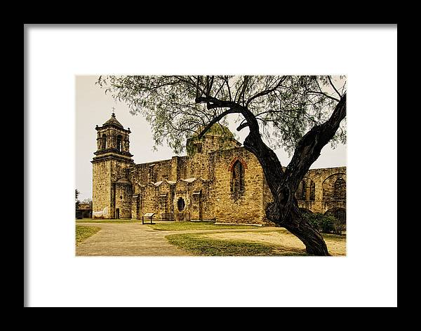 Mission Framed Print featuring the photograph Mission San Jose by Iris Greenwell