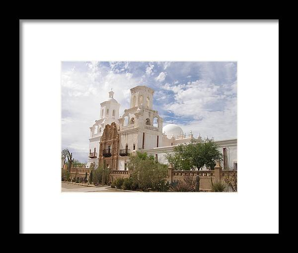 Arizona Framed Print featuring the photograph Mission San Xavier by Jeanette Oberholtzer