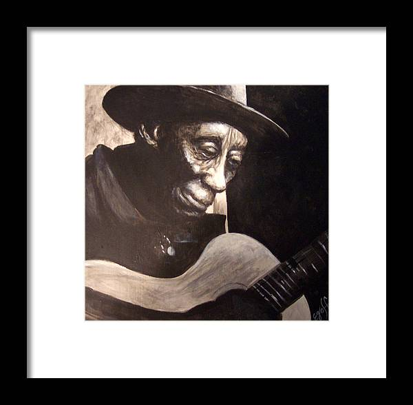 Blues Framed Print featuring the painting Mississippi John Hurt by Douglas Egolf