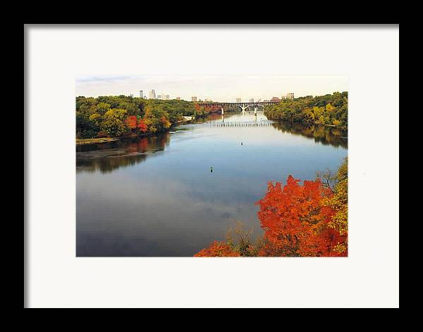 Mississippi Framed Print featuring the photograph Mississippi River by Kathy Schumann