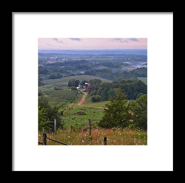 Farm Framed Print featuring the photograph Mississippi River Valley 2 by Bonfire Photography