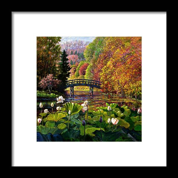 Landscape Framed Print featuring the painting Missouri Memories by John Lautermilch