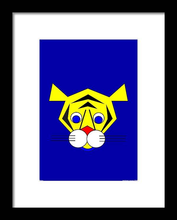 Tiger Framed Print featuring the digital art Mister Tiger by Asbjorn Lonvig
