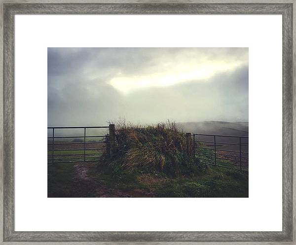Gates Framed Print Featuring The Photograph Misty Gates By Steve Swindells