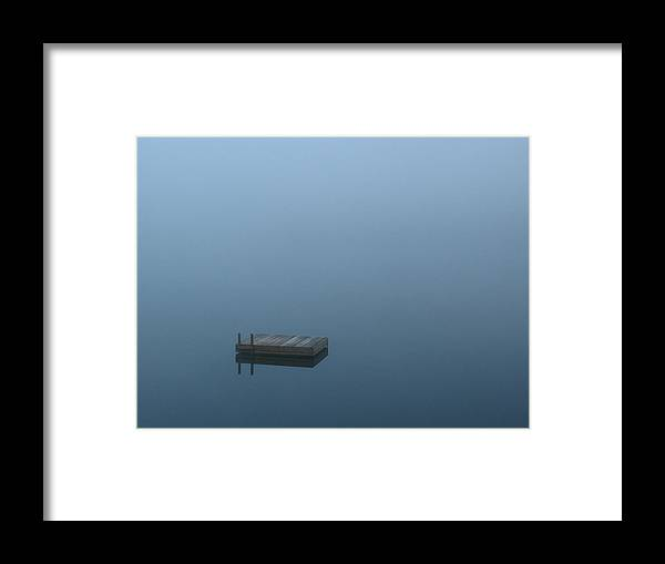 Lake Framed Print featuring the photograph Misty Lake by Juergen Roth