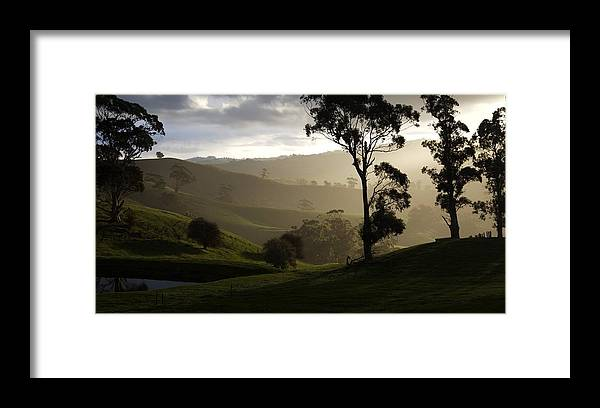 Landscapes Framed Print featuring the photograph Misty by Lee Stickels