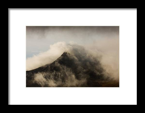 Scotland Framed Print featuring the photograph Misty Peak by Colette Panaioti