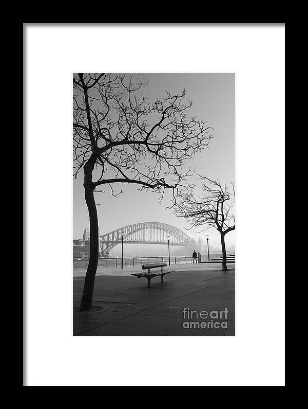 Sydney Harbour Bridge Mist Australia Framed Print featuring the photograph Misty Sydney Morning by Sheila Smart Fine Art Photography