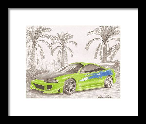 Mitsubishi Eclipse From Fast And The Furious Sports Car Art Print ...