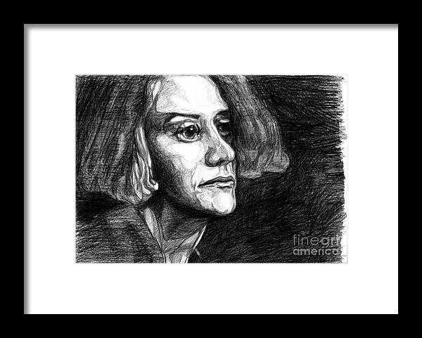 Ink Framed Print featuring the painting Mitya. 2014 by Tatiana Chernyavskaya