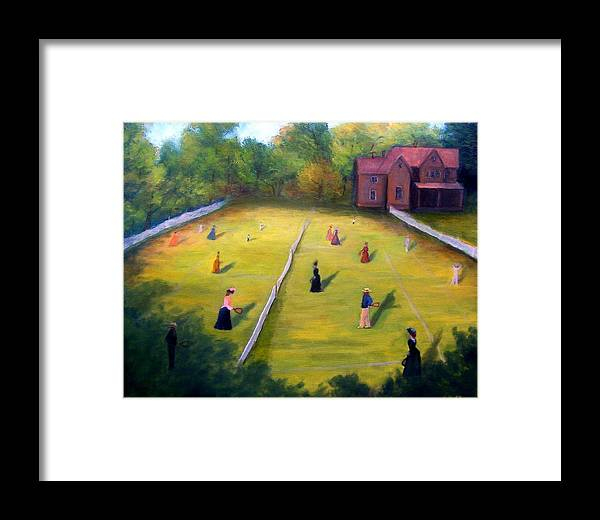 Tennis Art Framed Print featuring the painting Mixed Doubles by Gail Kirtz