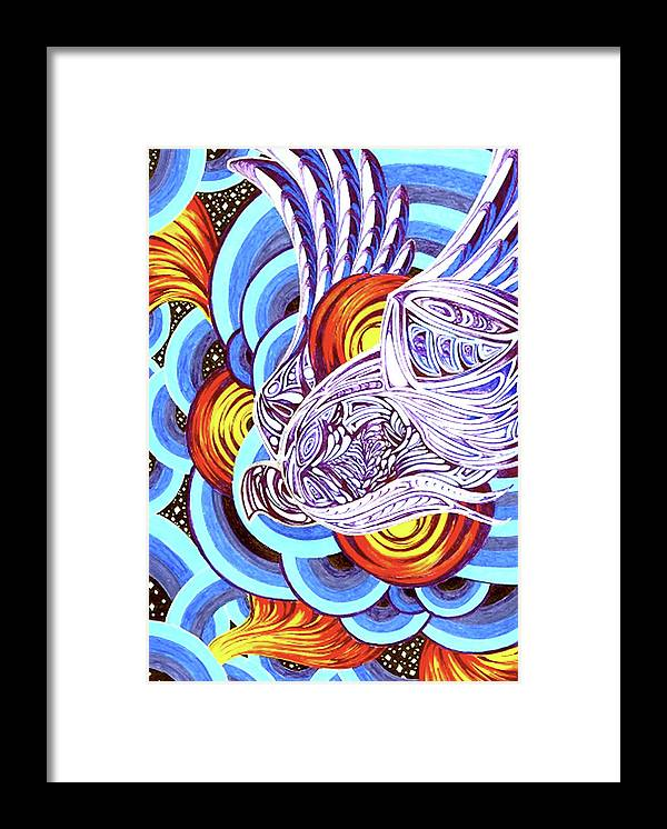 Spirit Framed Print featuring the painting Mixed Emotions by Pam Ellis