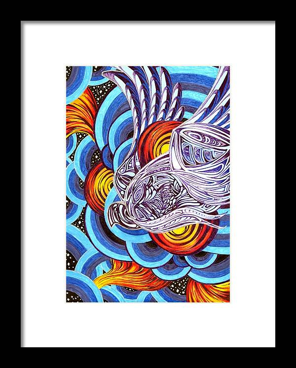 Meditative Framed Print featuring the painting Mixed Emotions by Pam Ellis