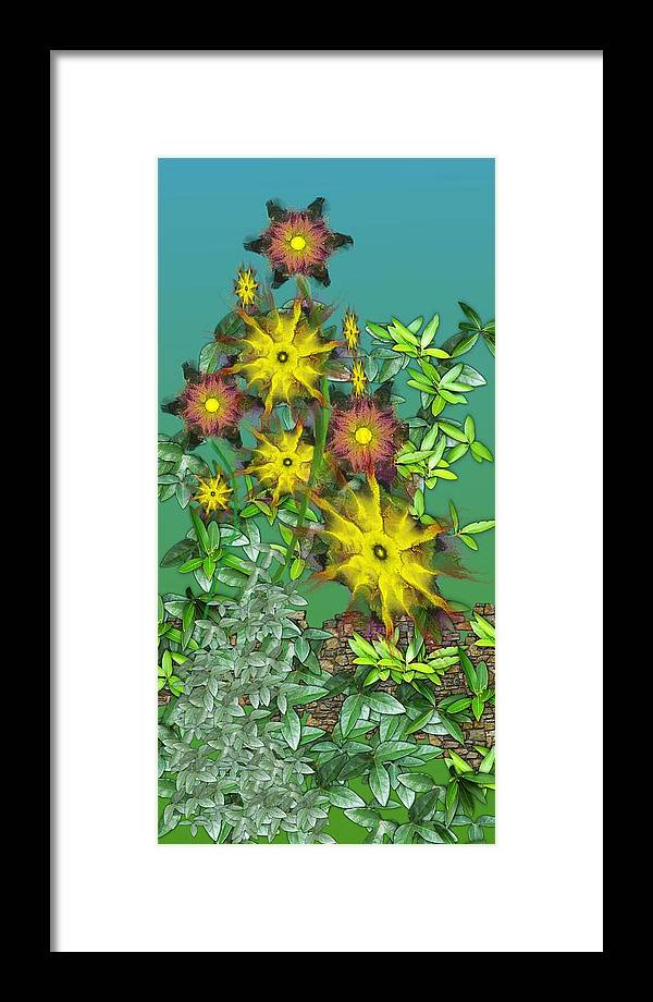 Flowers Framed Print featuring the digital art Mixed Flowers by David Lane