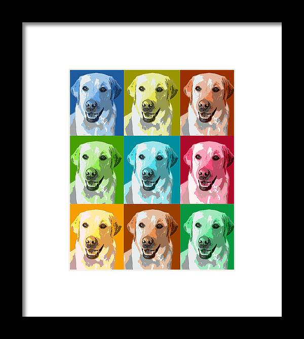 Americana Framed Print featuring the photograph Golden Retriever Warhol by Marilyn Hunt