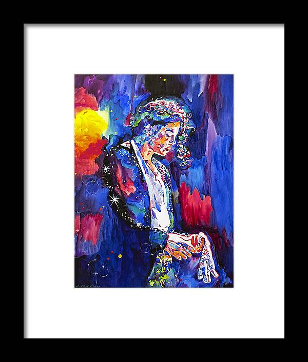 Michael Jackson Framed Print featuring the painting MJ Final Performance II by David Lloyd Glover