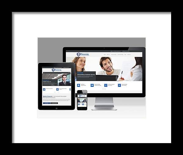 Php Development Framed Print featuring the photograph Mjollnir Group Inc - Responsive Website by KCS ITGlobal