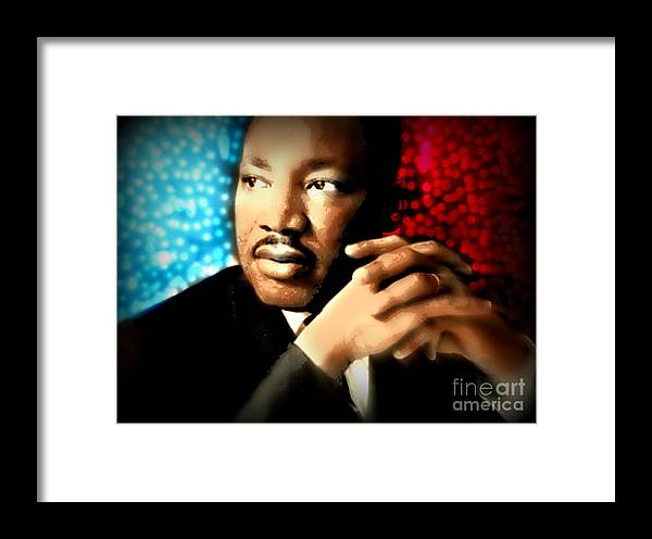 Martin Luther King Framed Print featuring the painting MLK by Wbk