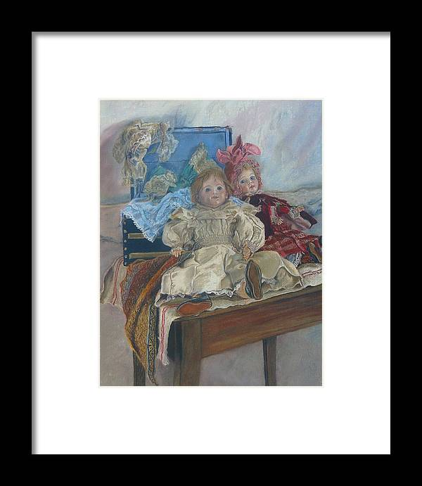 Pastel Framed Print featuring the painting Mlle. Pinchon by Miriam A Kilmer