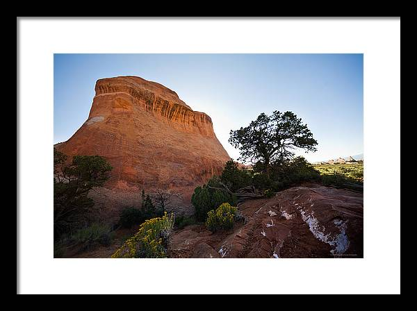 U.s.a. Framed Print featuring the photograph Moab 2 by Luigi Barbano BARBANO LLC